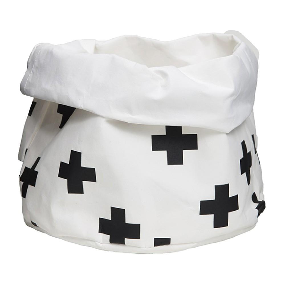 Adair Wash Paper Storage Bag, Medium, White