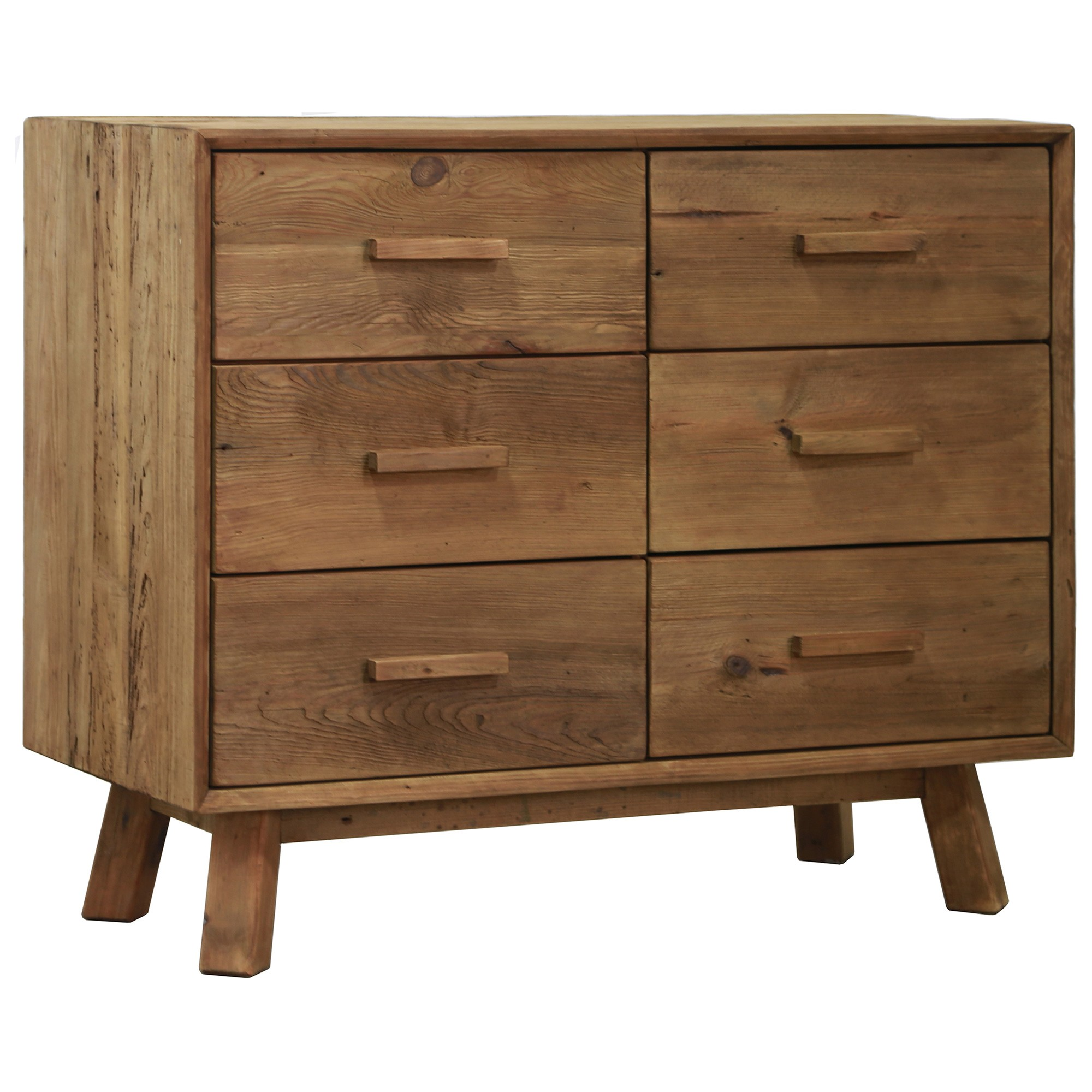 Mandalay Recycled Pine Timber 6 Drawer Dresser