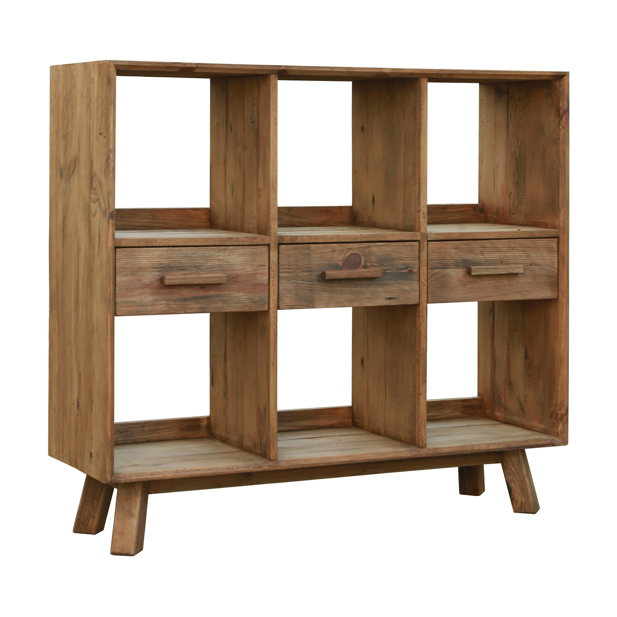 Mandalay Recycled Pine Timber Display Shelf