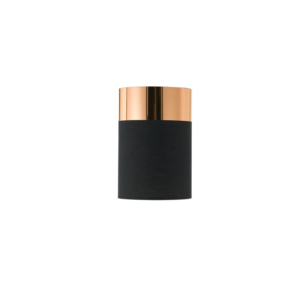 Akira Batten Fix Ceiling Light, Black / Copper