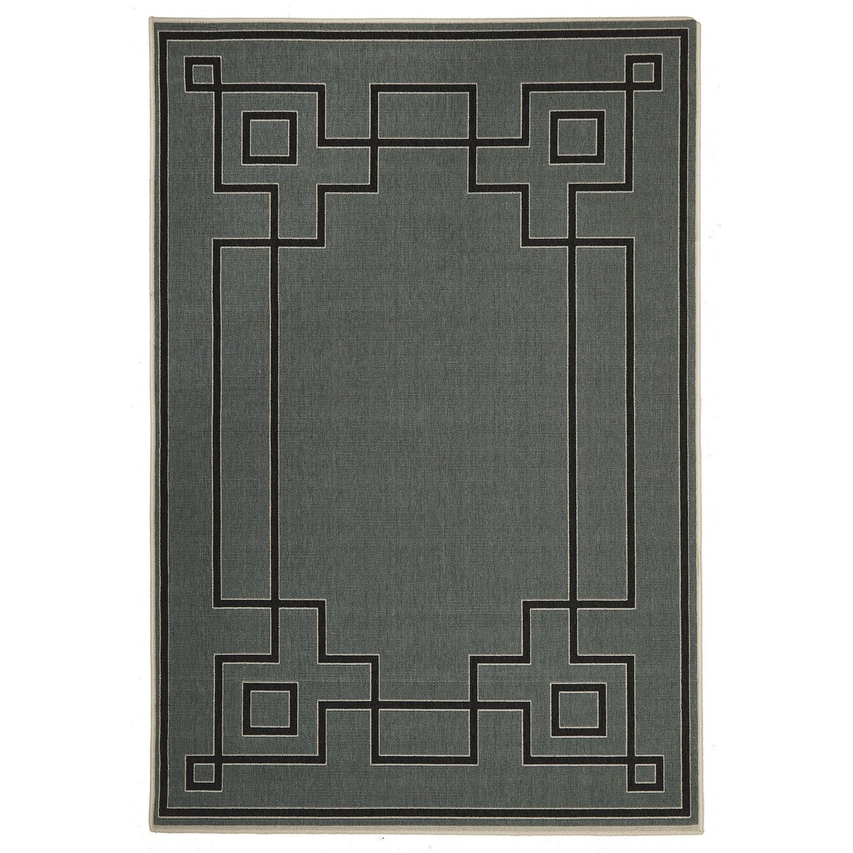 Alfresco Shanghai Egyptian Made Outdoor Rug, 160x110cm, Steel