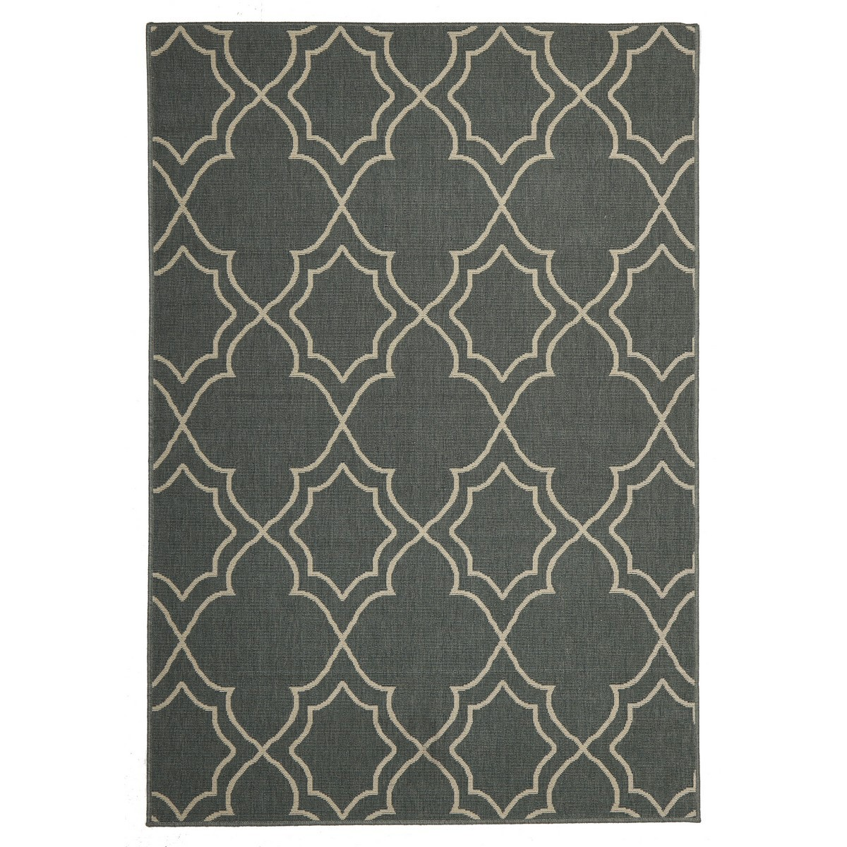 Alfresco Casablanca Egyptian Made Outdoor Rug, 160x110cm, Steel