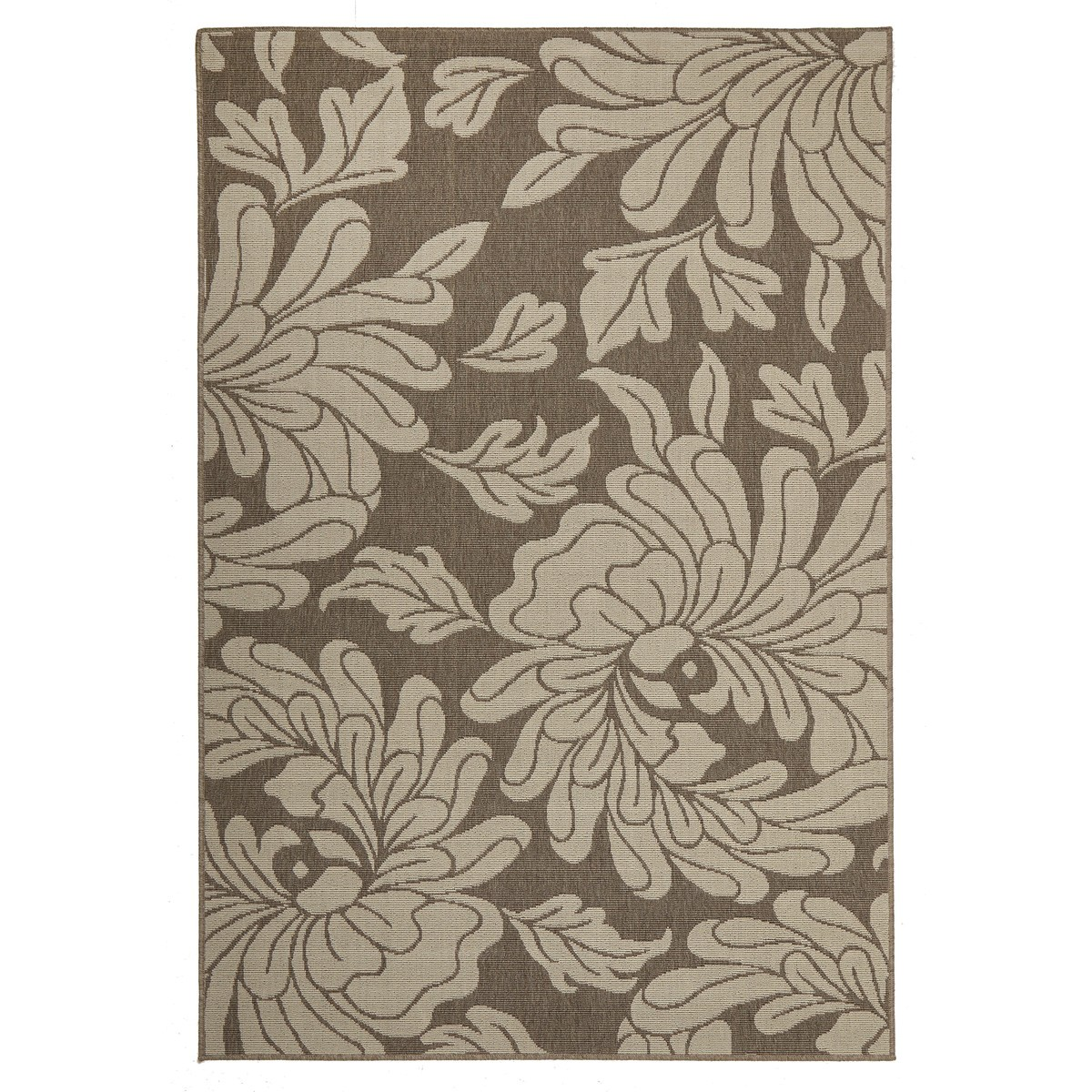 Alfresco Bloom Egyptian Made Outdoor Rug, 160x110cm, Beige / Brown