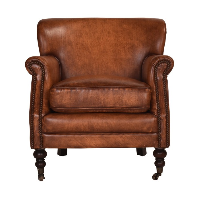 Oasby Aged Leather Armchair