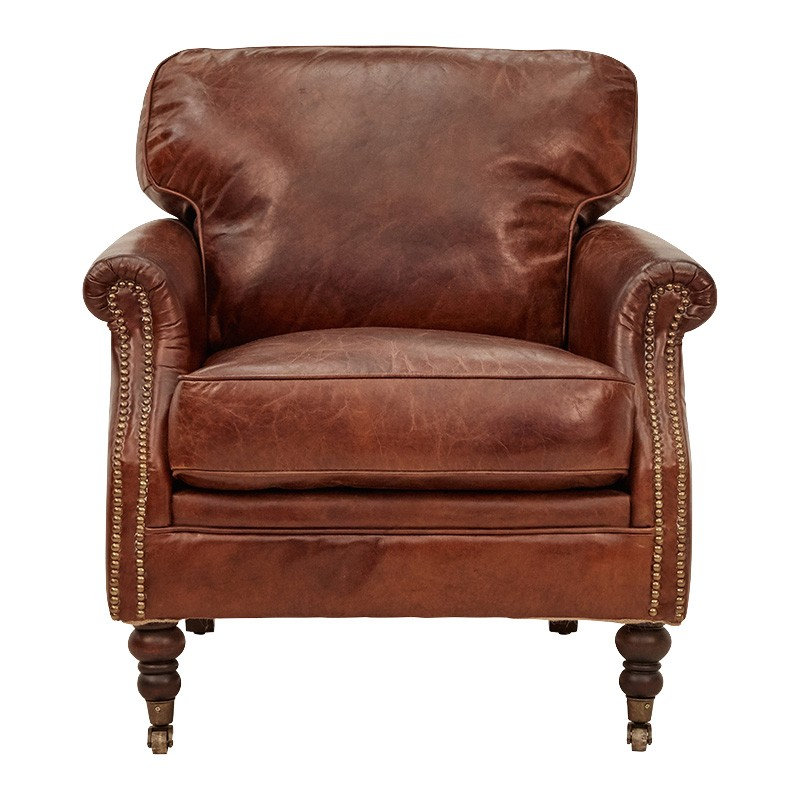 Edinburgh Aged Leather Armchair