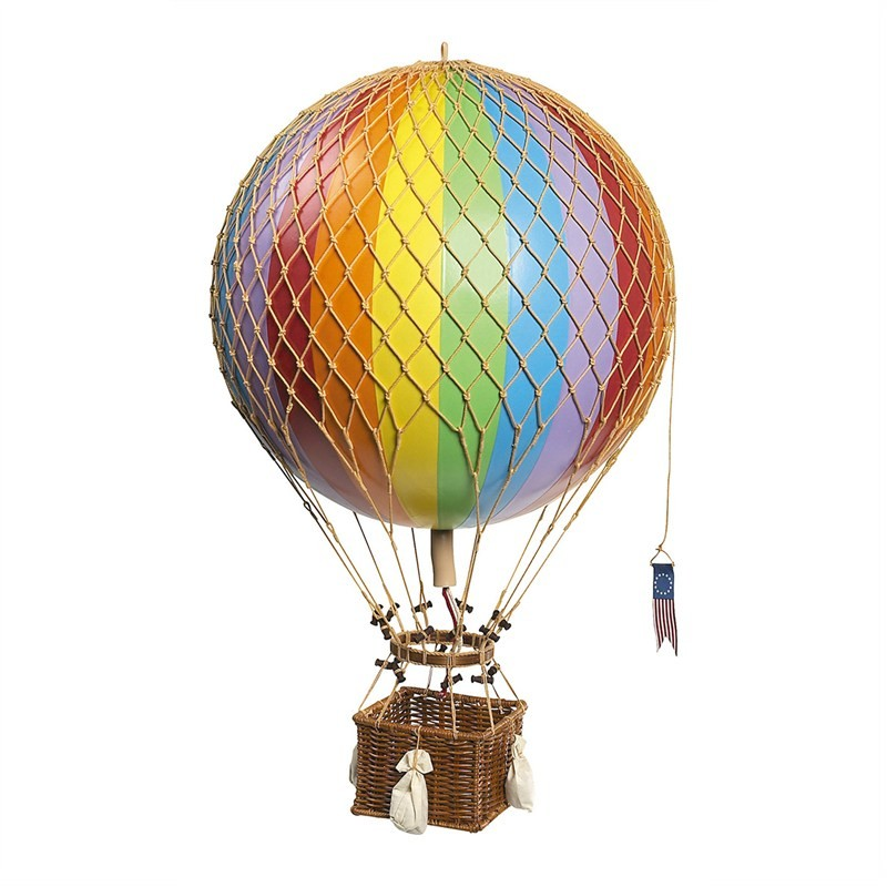 Royal Aero Hot Air Balloon Model, Rainbow