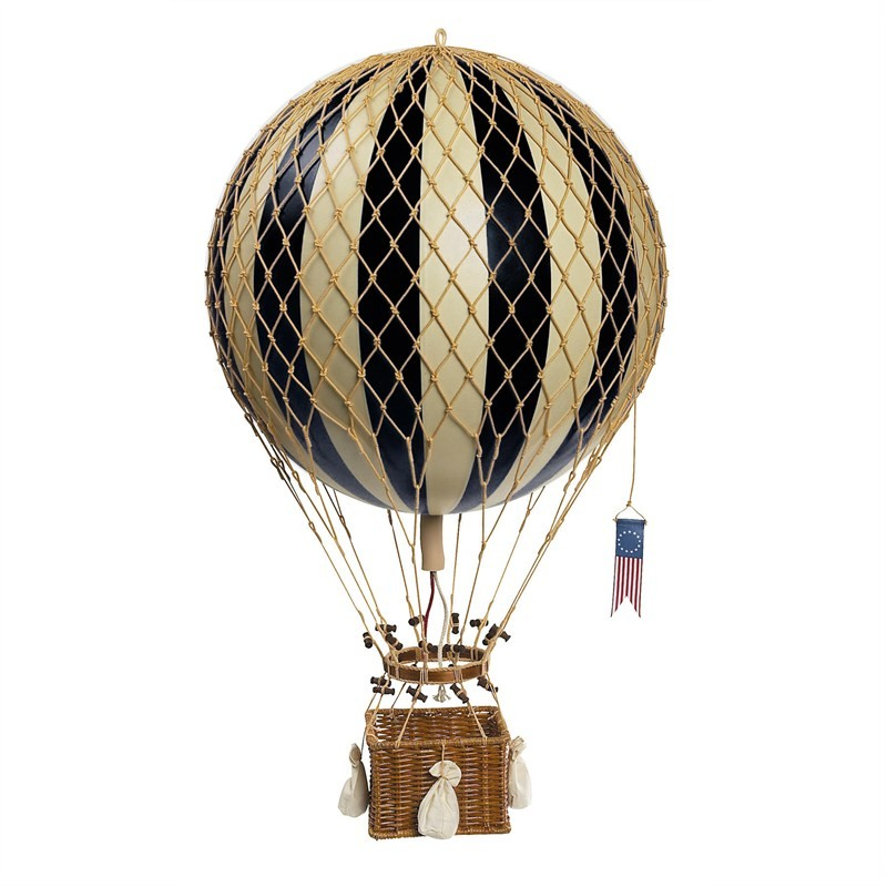 Royal Aero Hot Air Balloon Model, Black
