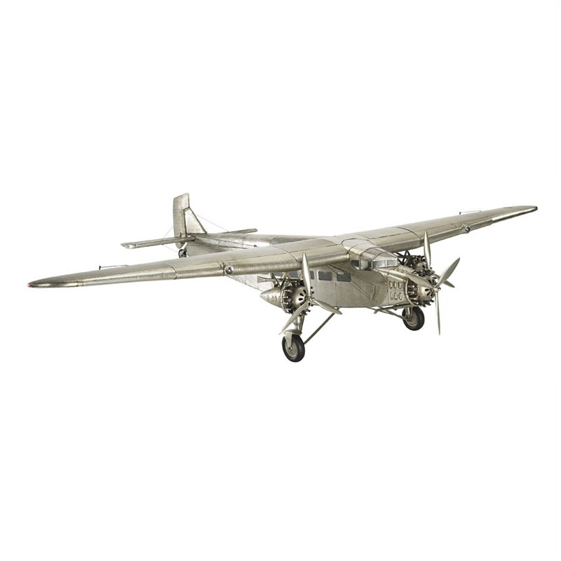 1930s Ford Trimotor Airplane Aluminium Scale Model
