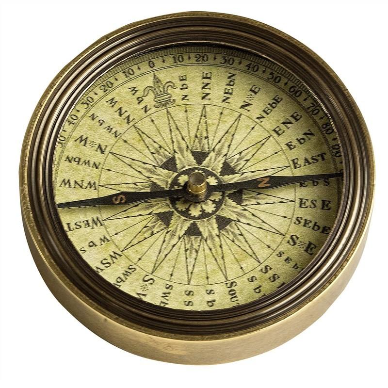 Polaris Solid Brass Compass