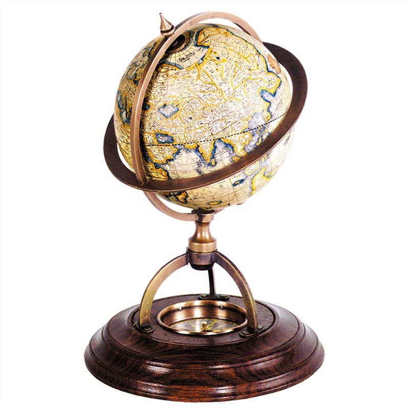 Terrestrial Tabletop Globe with Compass