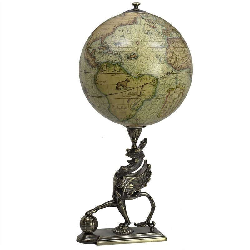 Griffon Globe with Decorative Stand