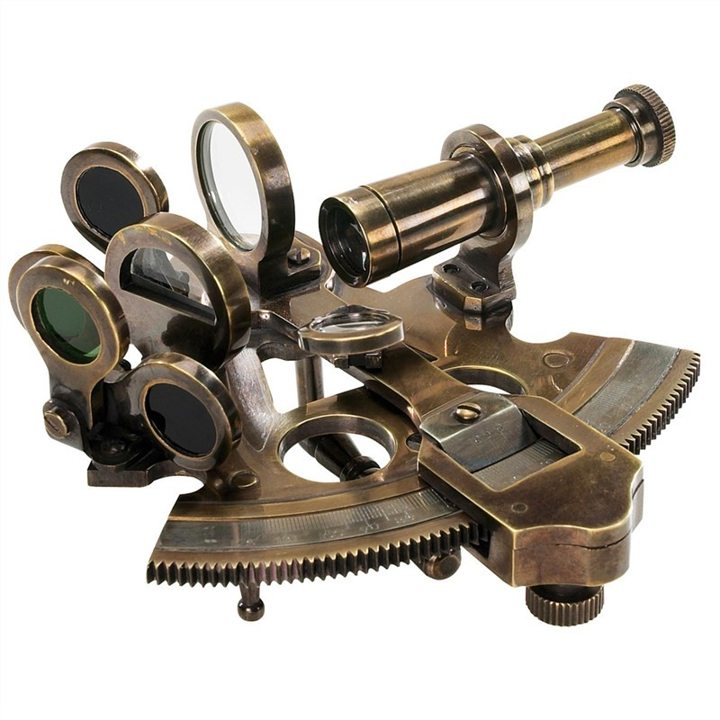 Victorian Solid Brass Pocket Sextant