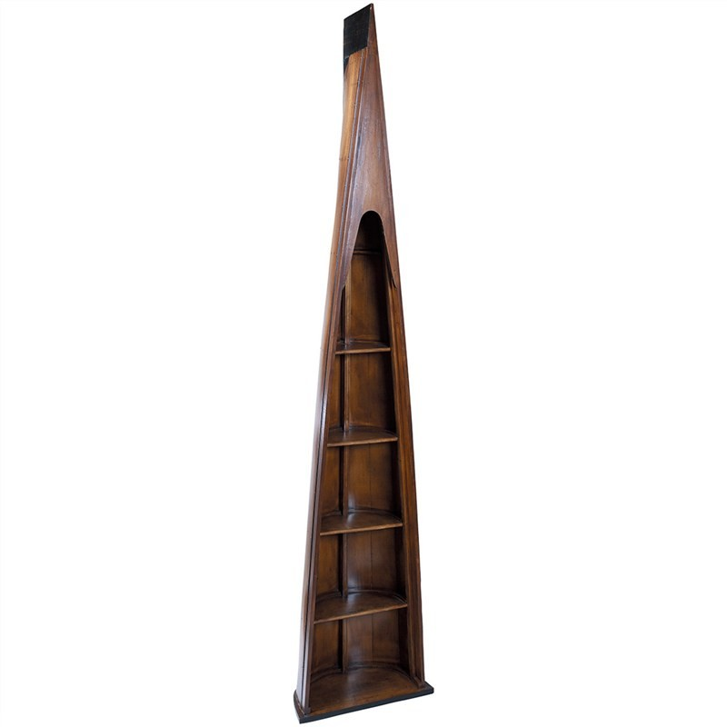 Man of Eight Solid Timber Row Boat Bookcase