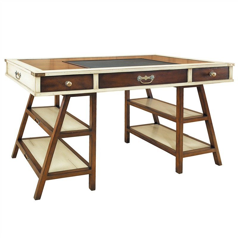Navigators Solid Timber Desk - Ivory