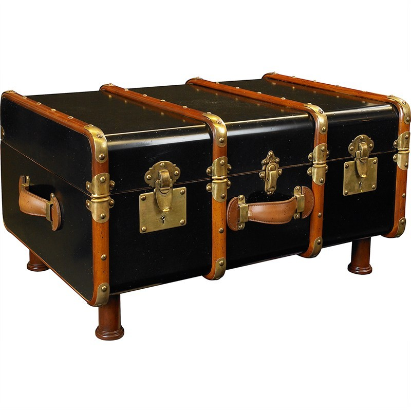 Stateroom Timber Trunk Table, Black