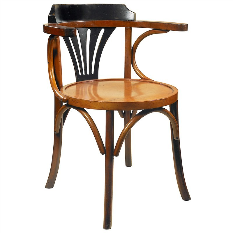 Navy Solid Timber Side Chair - Honey/Black