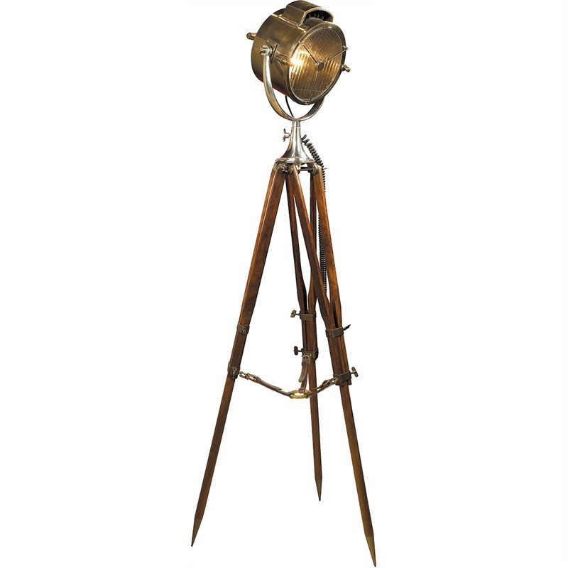 Coast Guard Patrol Spotlight Tripod Floor Lamp
