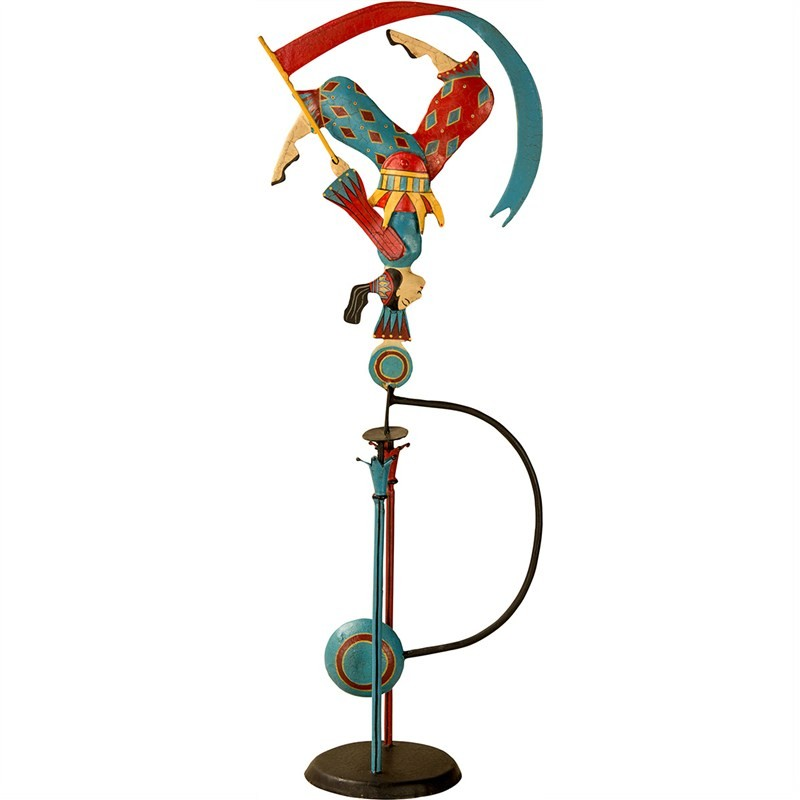 Authentic Models Hand Crafted Metal Skyhook Balance Toy, Acrobat