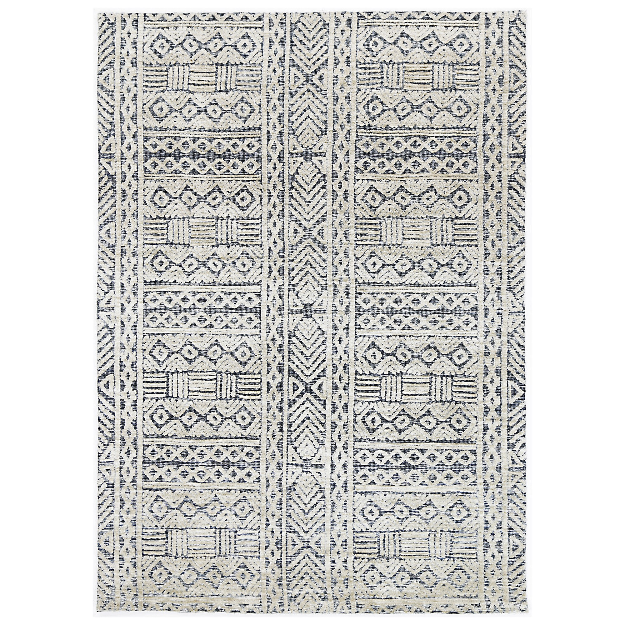 Amristar Glenroy Hand Tufted Wool Rug, 330x240cm, Navy