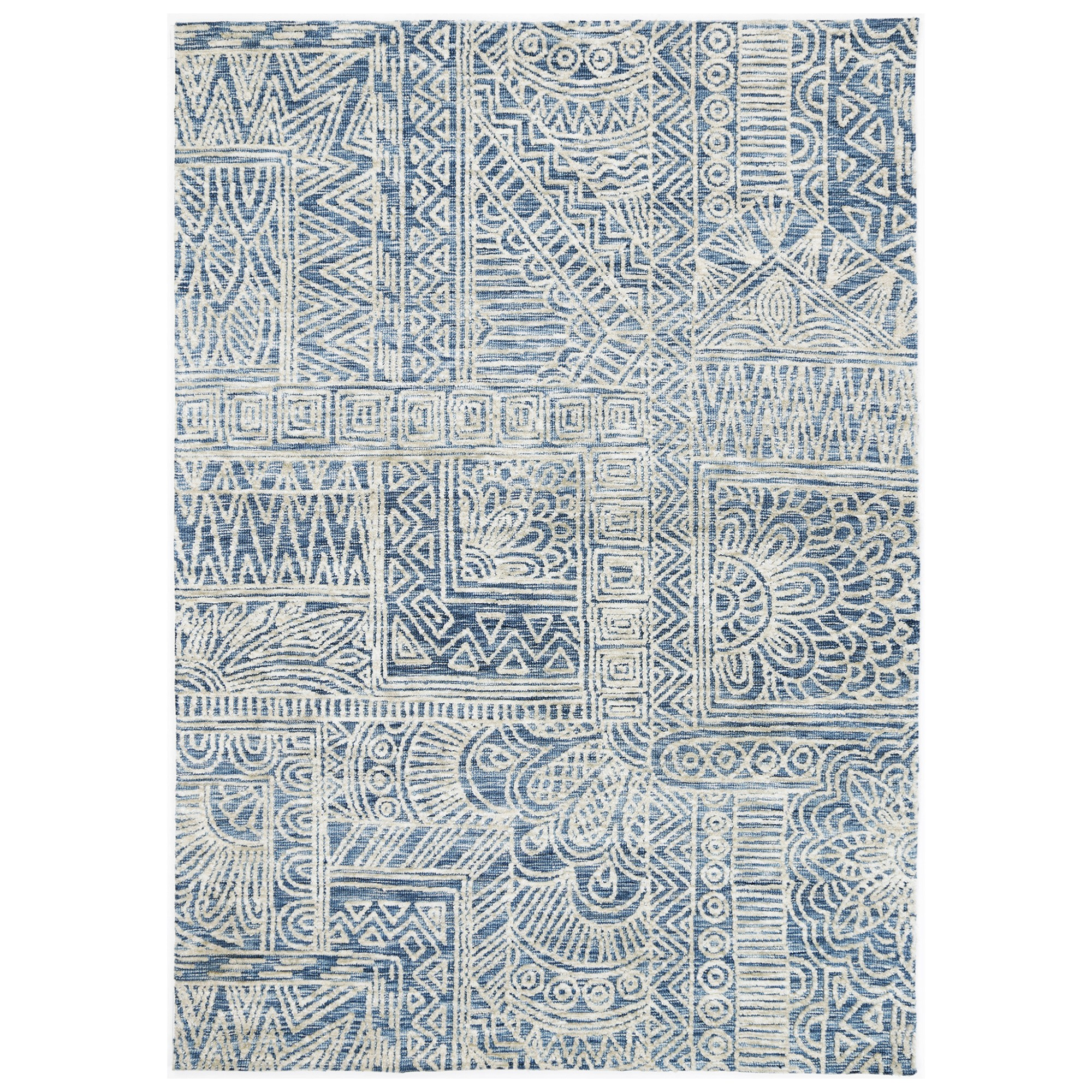 Amristar Newburg Hand Tufted Wool Rug, 330x240cm, Navy