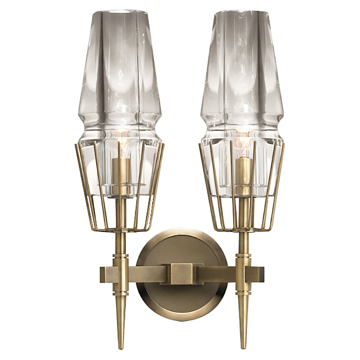 Replica Jonathan Browning Chaillot Wall Sconce, Double Light