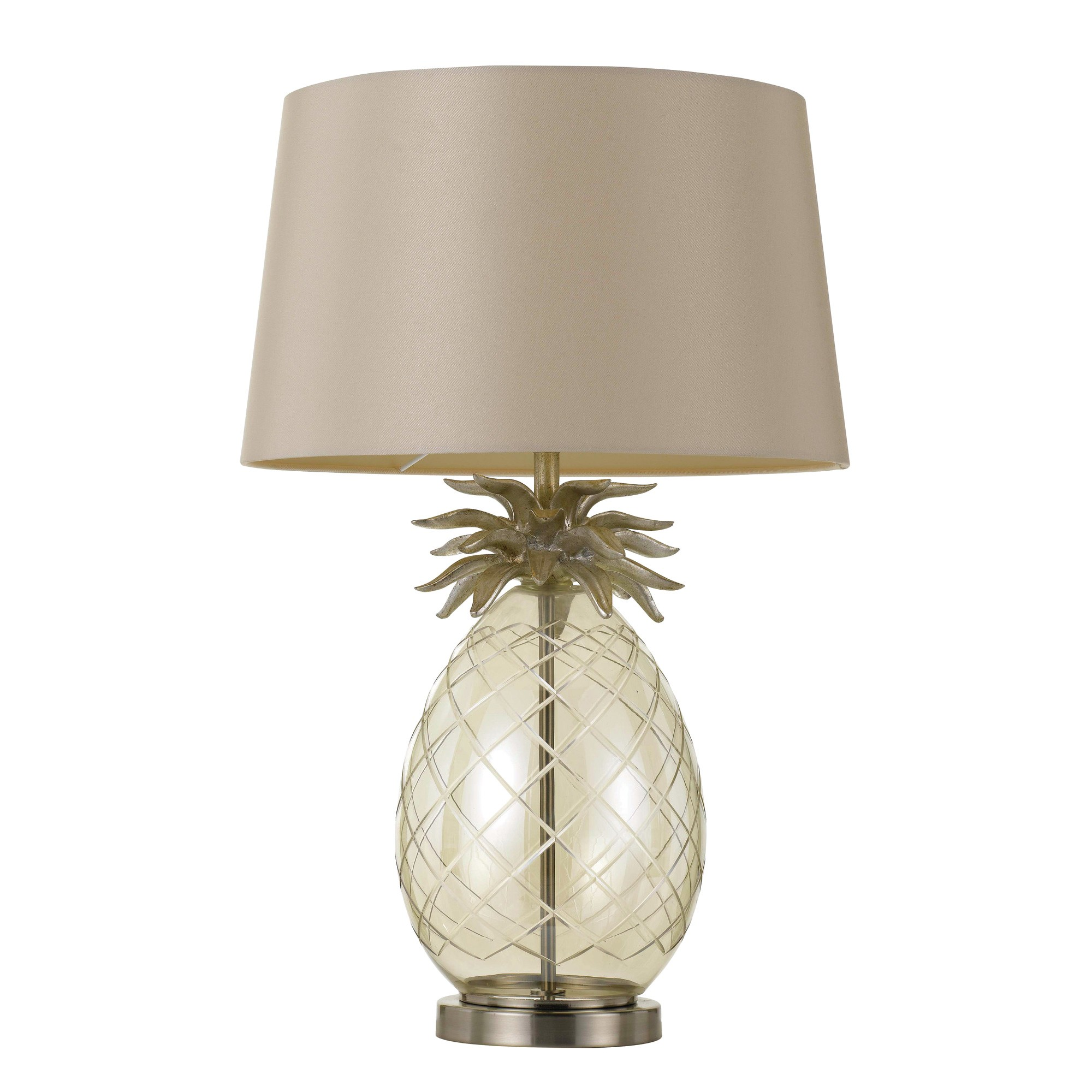 Ananas Metal & Glass Base Table Lamp