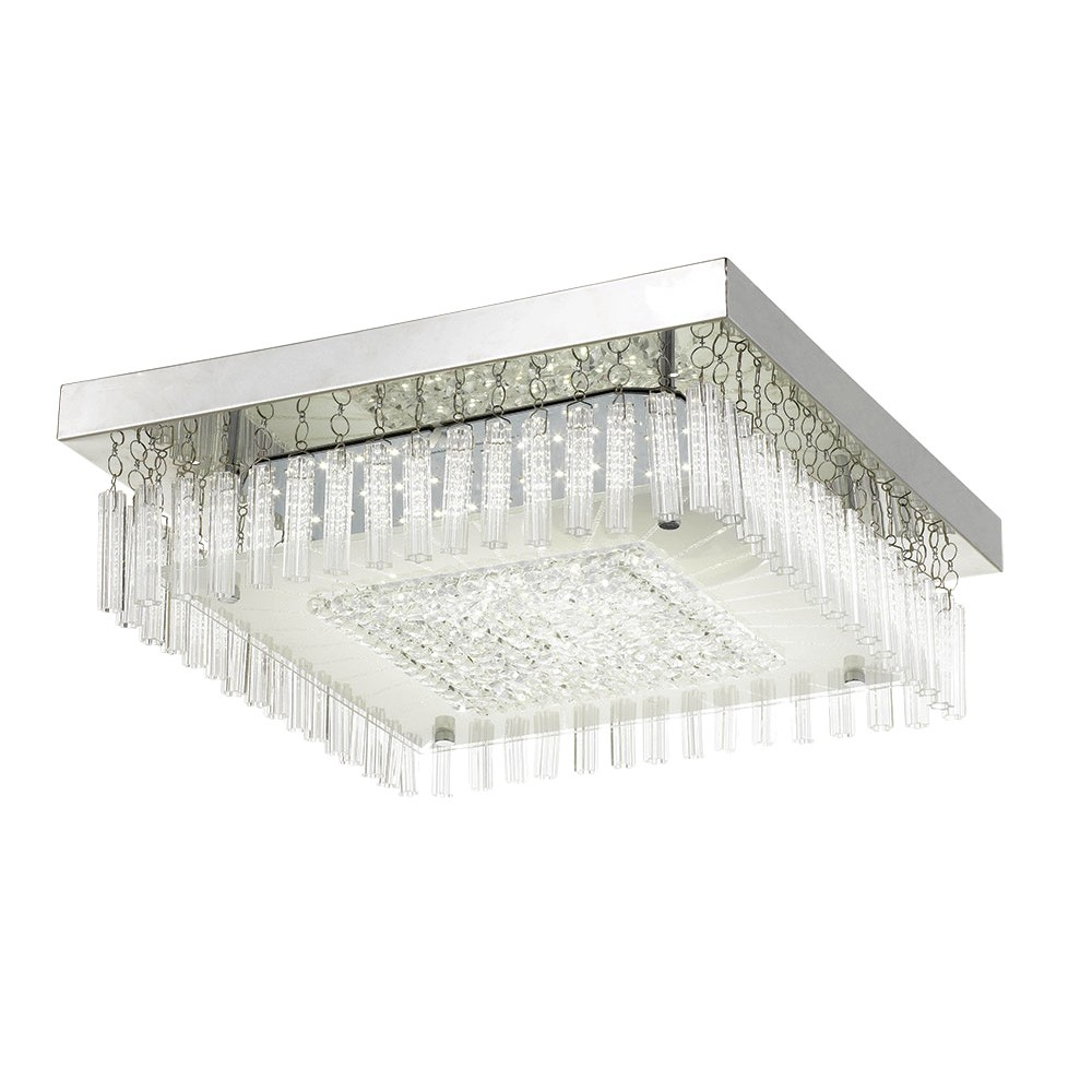 Andela LED Oyster Ceiling Light, Square