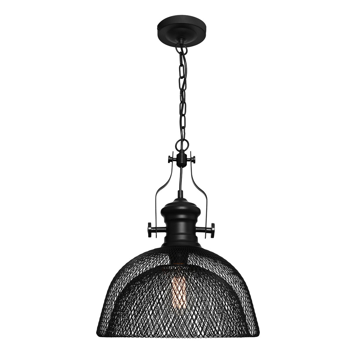 Argyle Industrial Metal Mesh Pendant Light, Large