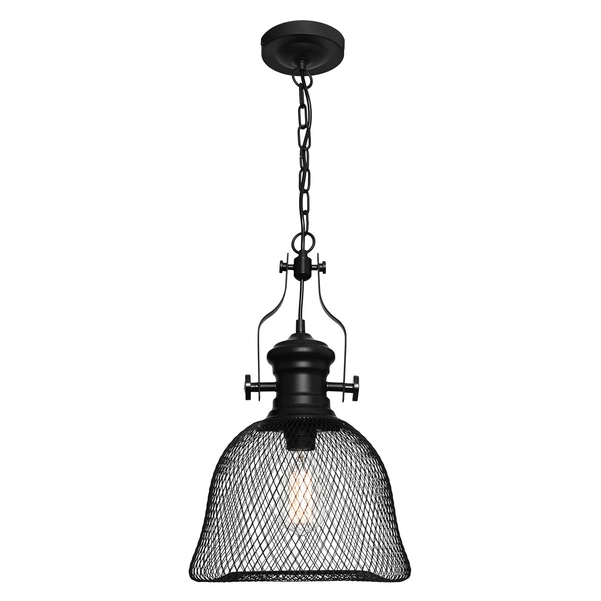 Argyle Industrial Metal Mesh Pendant Light, Small