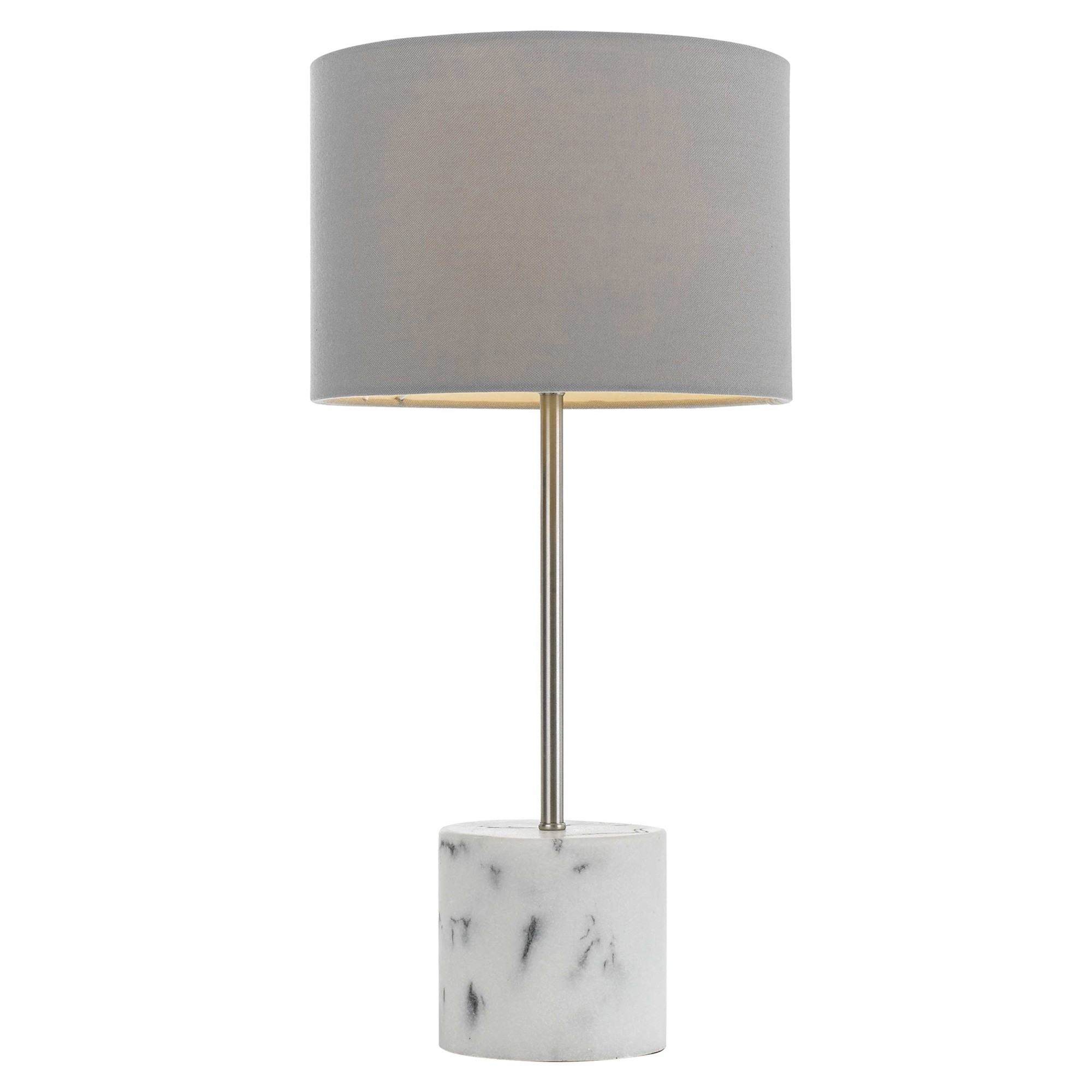 Arkos Ceramic Base Table Lamp, White Marble