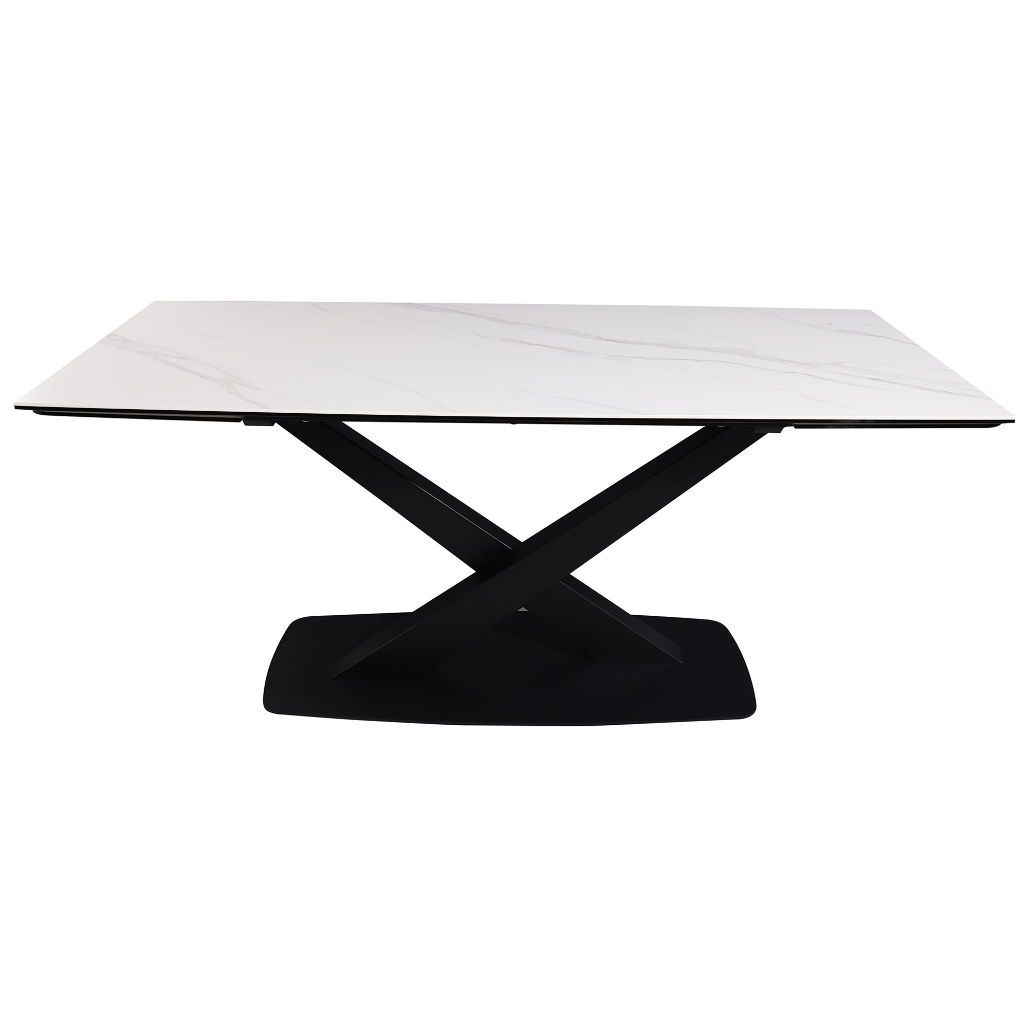 Cabot Ceramic Topped Metal Extension Dining Table, 180-260cm