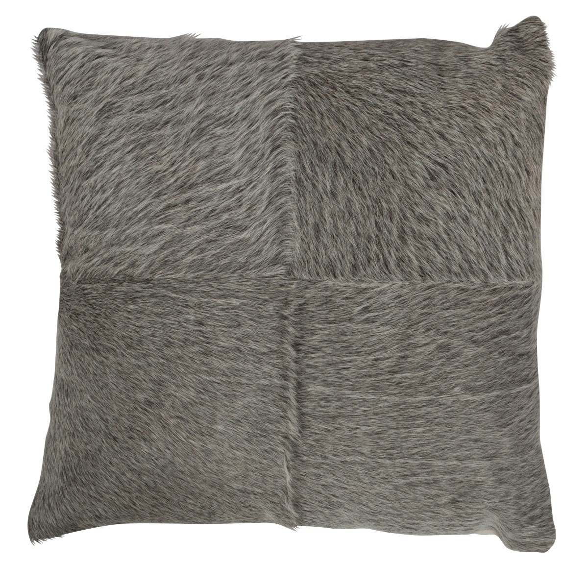 Makoto Cow Hide Scatter Cushion, Grey