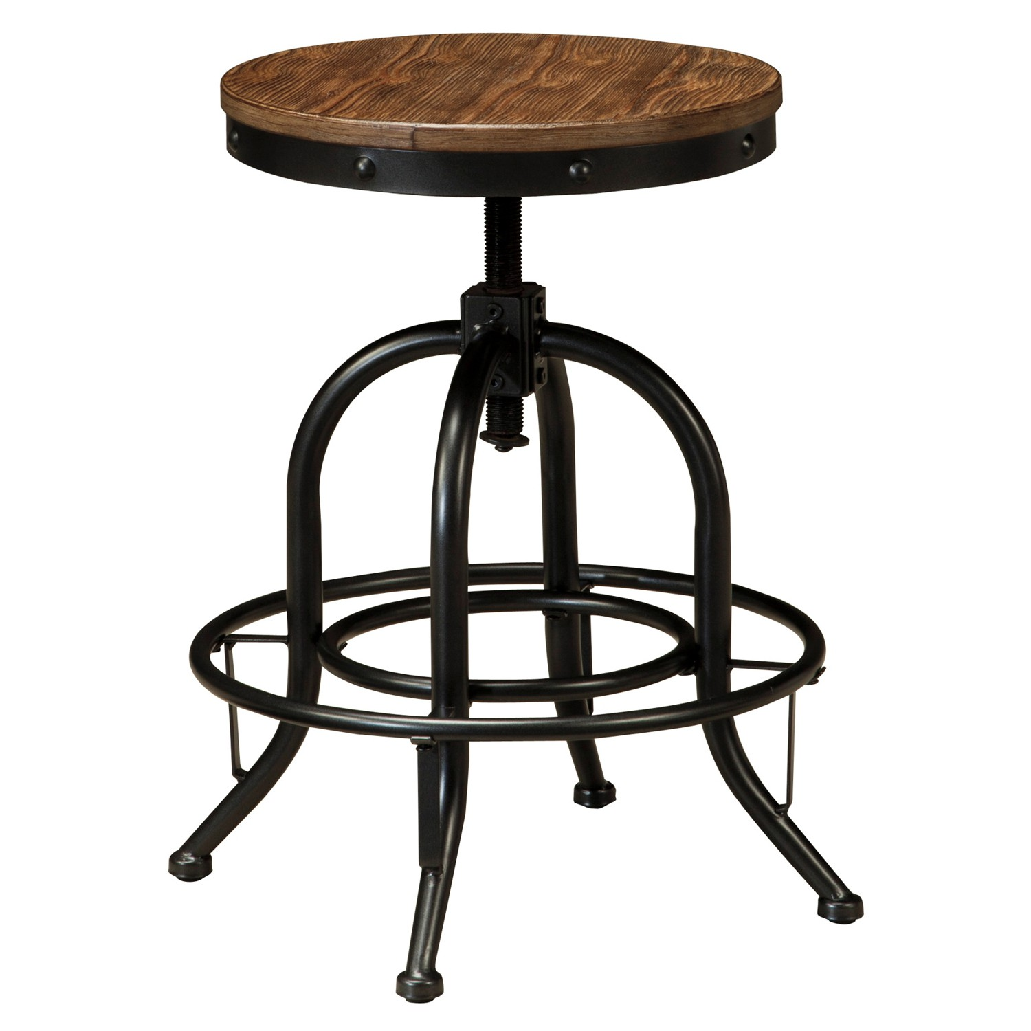 Pinnadel Metal Counter Stool with Timber Seat