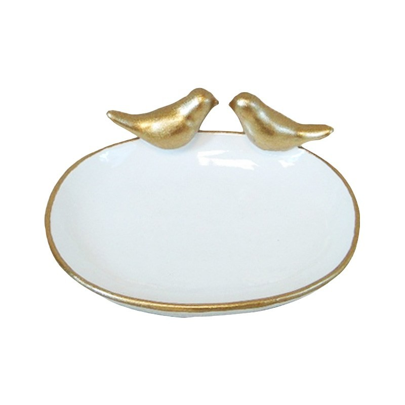 The Golden Bird Resin Ring holder