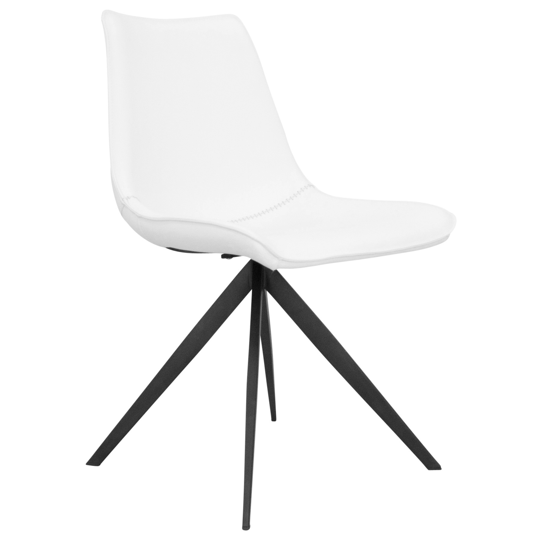 Astro PU Leather Dining Chair, White