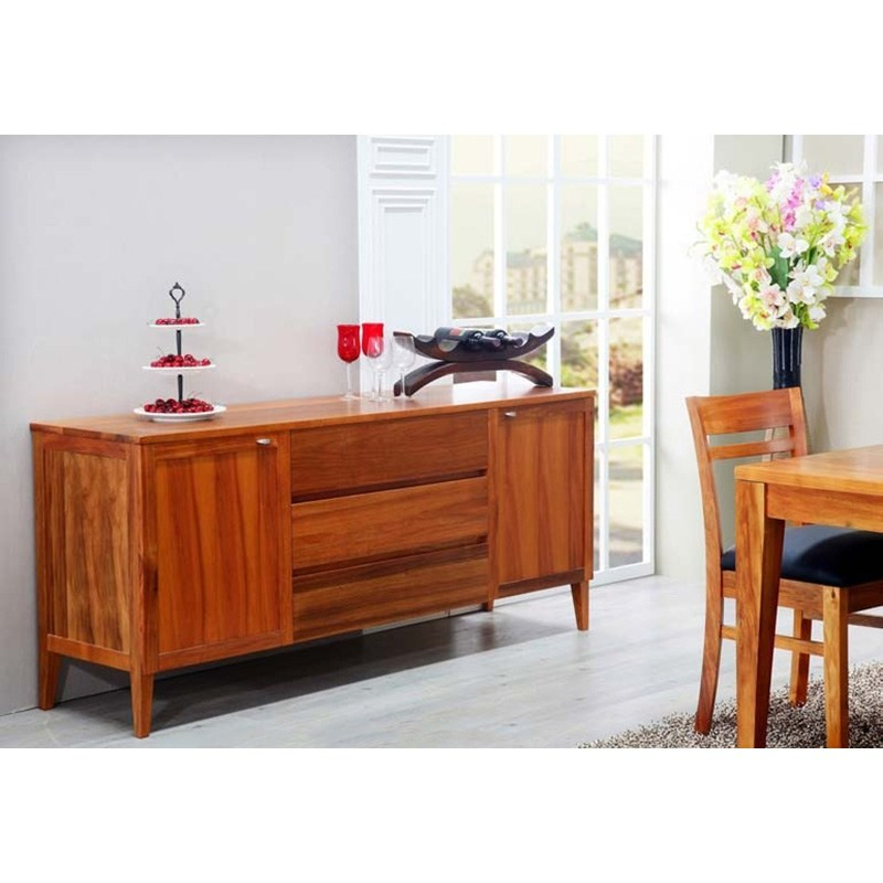 Casarano Solid Blackwood Timber 2 Door 3 Drawer 180cm Buffet Table