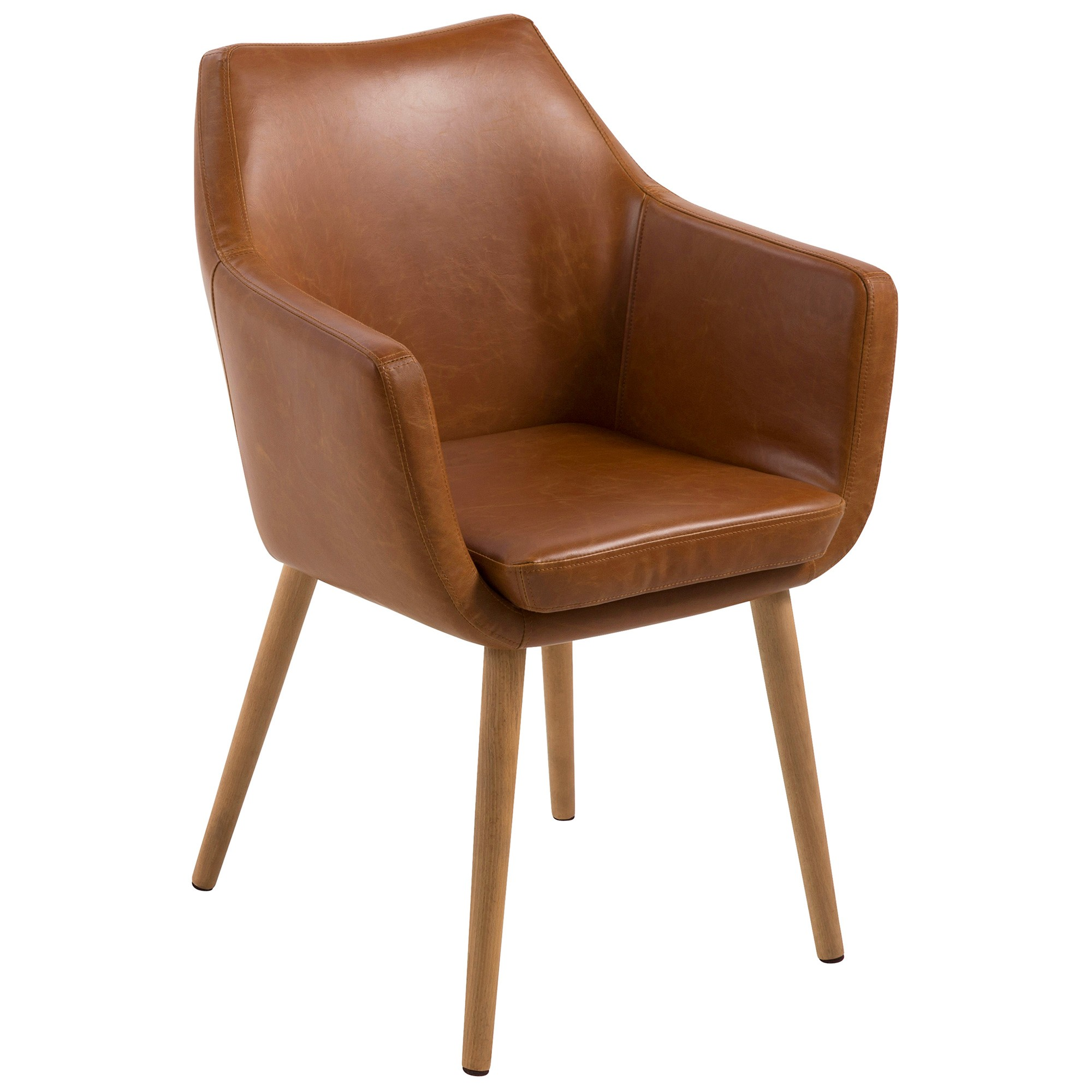 Chloe PU Leather Carver Chair
