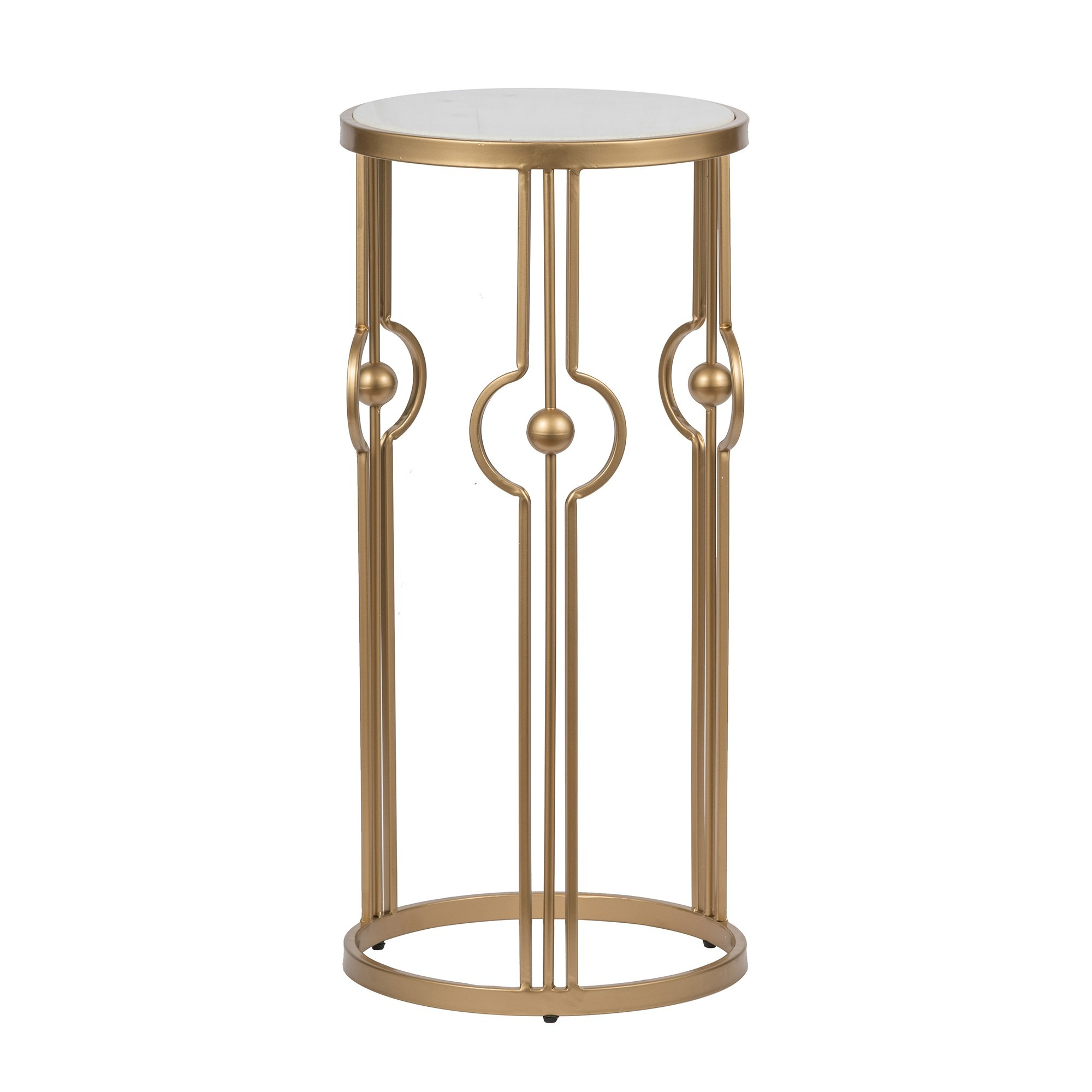 Winifred Iron & Marble Side Table