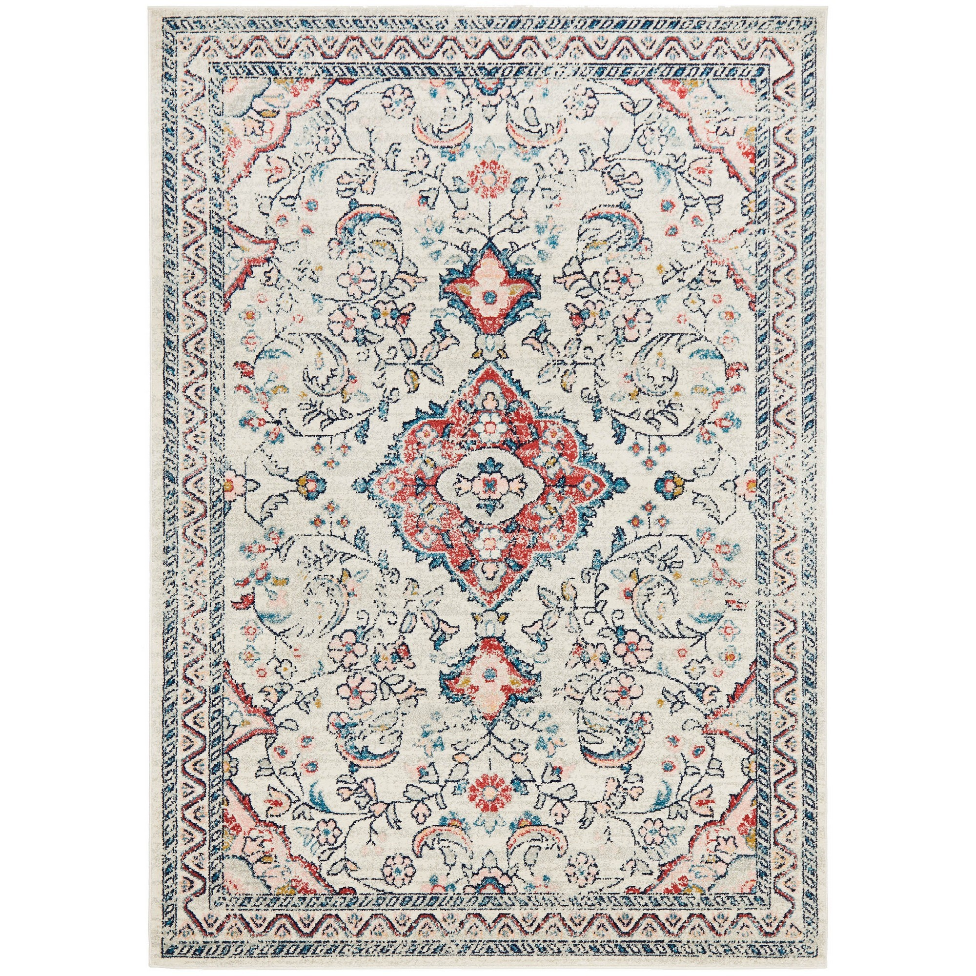 Avenue No.705 Tribal Rug, 400x300cm, Off White / Red