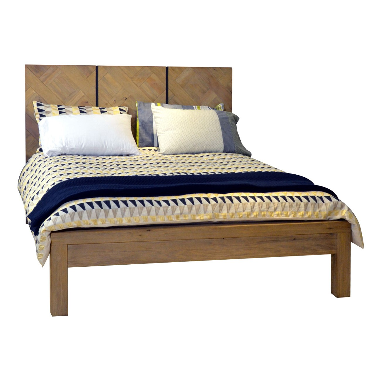 Barnard Mountain Ash Timber Platform Bed, Queen