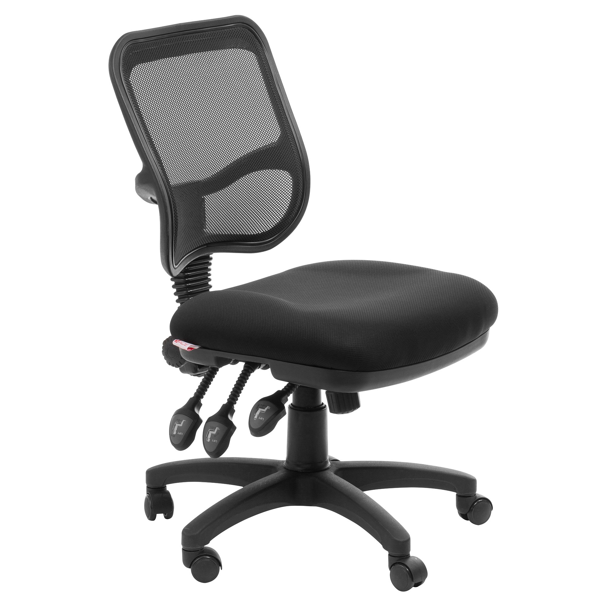 Eden 3 Level Adjustable Mesh Fabric Office Chair