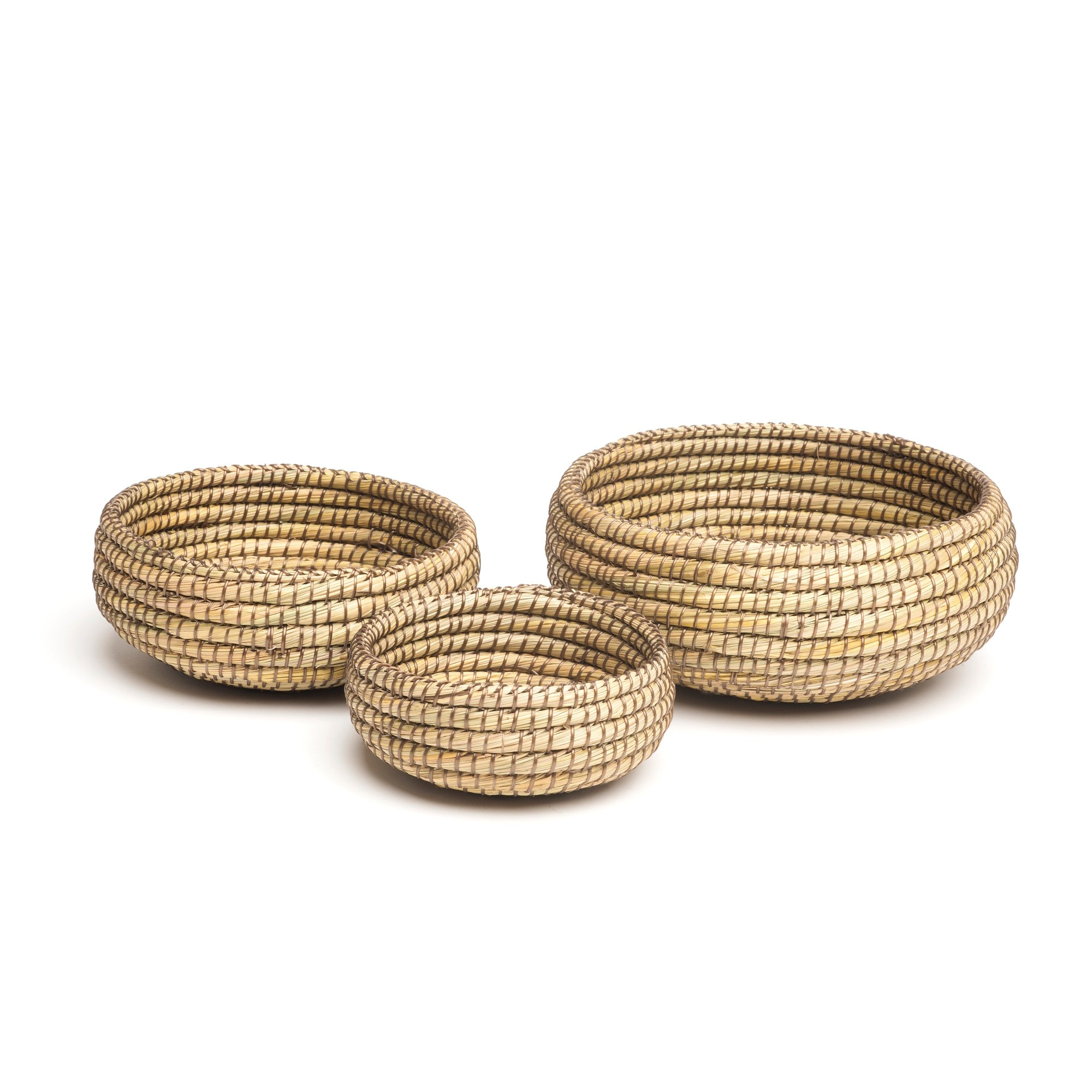 Kaisa 3 Piece Handmade Kaisa Grass Basket Set