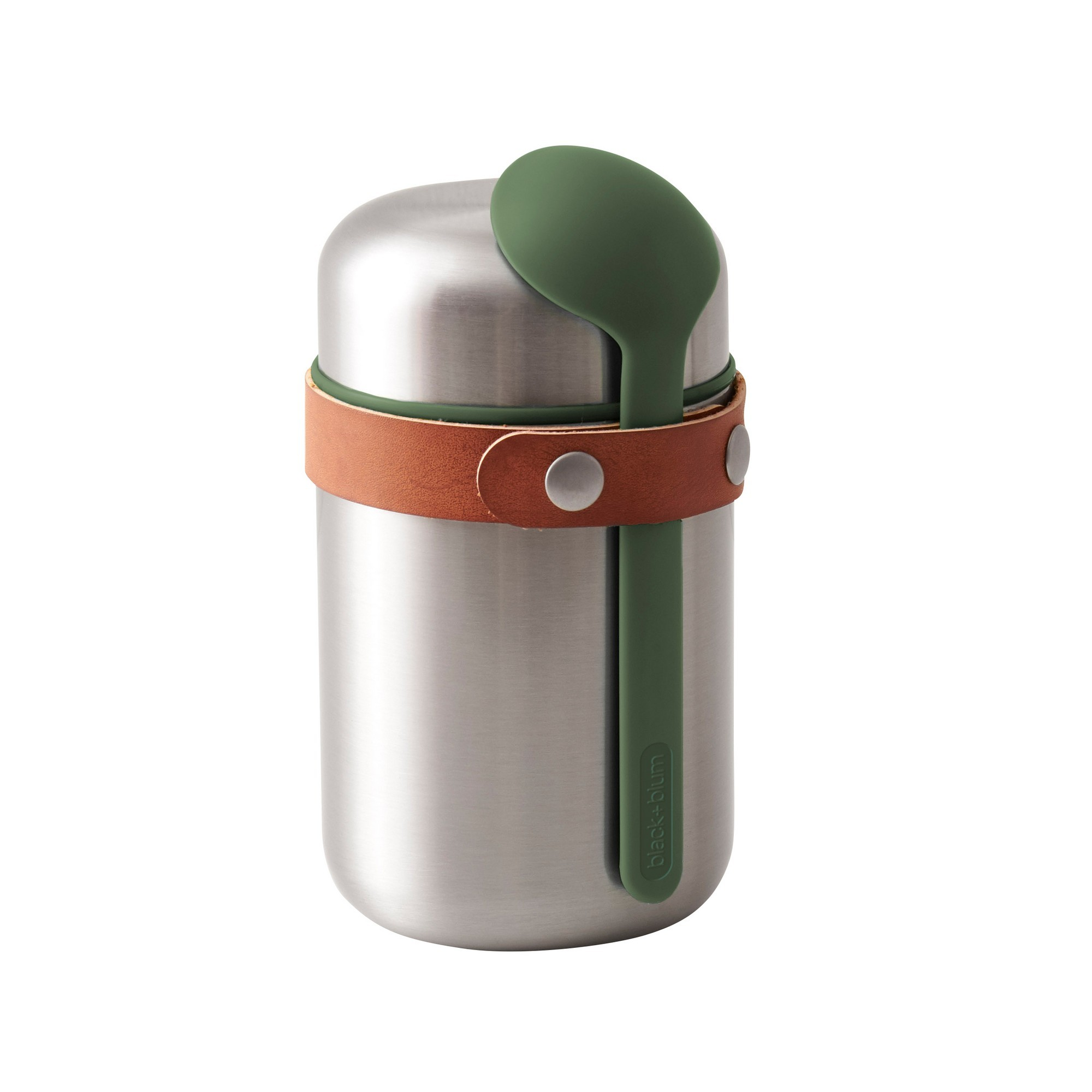 Black + Blum Stainless Steel Food Flask, 400ml, Olive