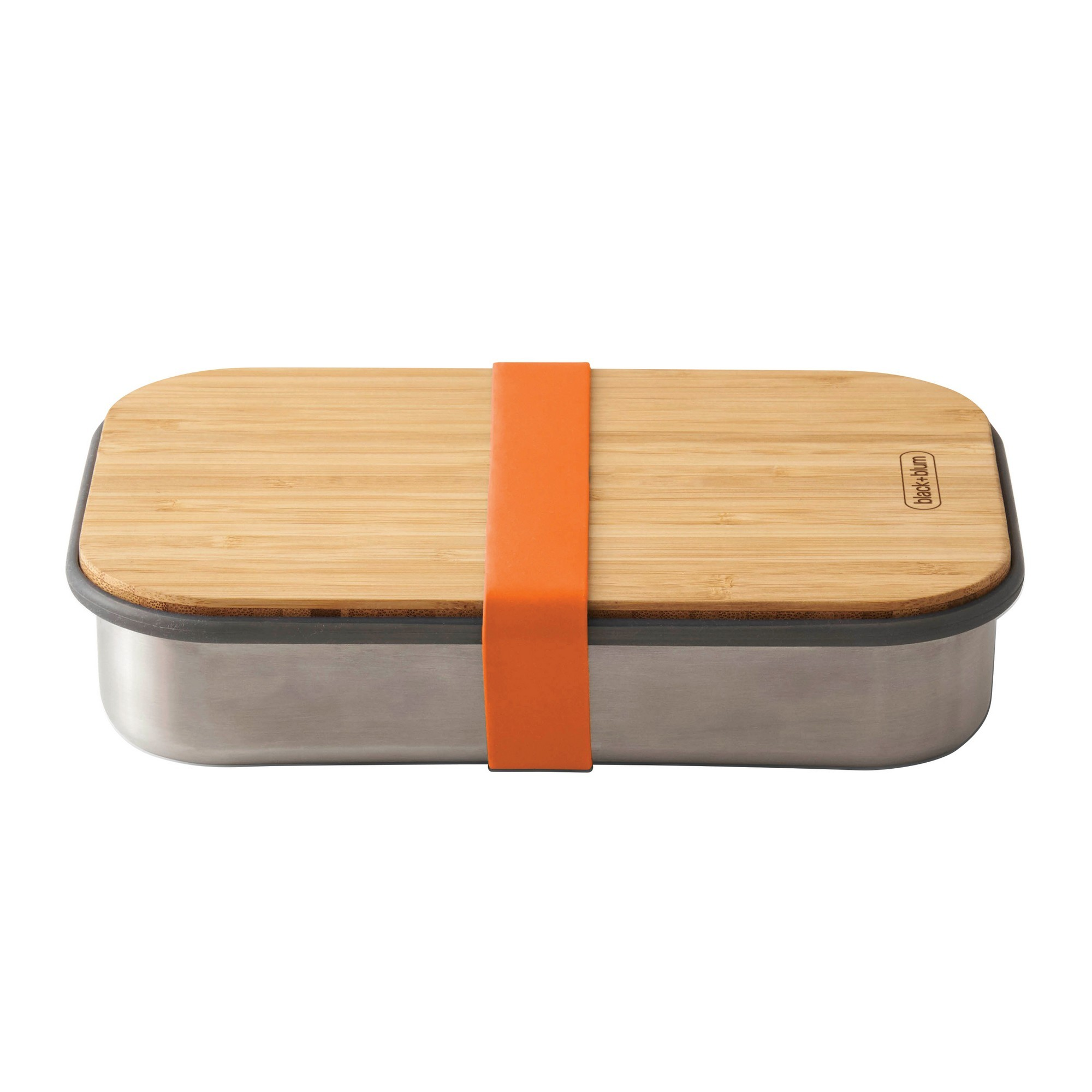 Black + Blum Stainless Steel Sandwich Box, 900ml, Orange