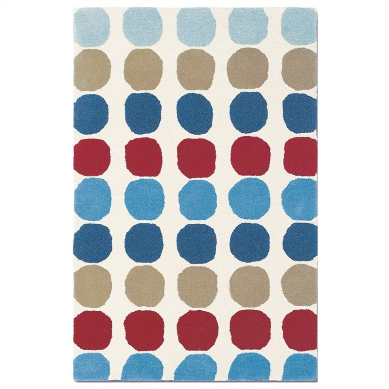 Harlequin Abacus Hand Tufted Designer Wool Rug, 180x120cm, Primary