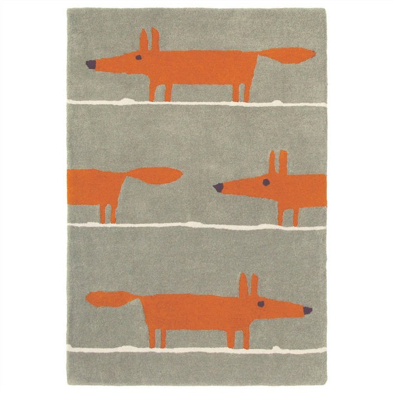 Scion Mr Fox Hand Tufted Designer Wool Rug, 200x140cm, Cinnamon
