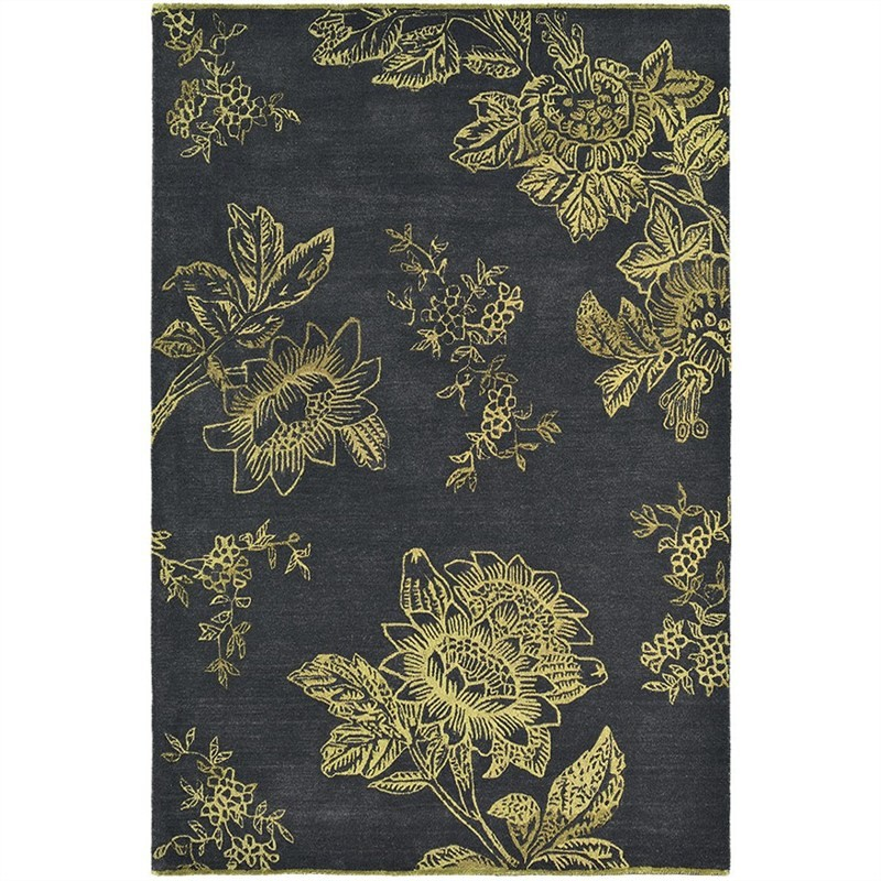 Wedgwood Tonquin Hand Tufted Designer Wool Rug, 280x200cm, Charcoal
