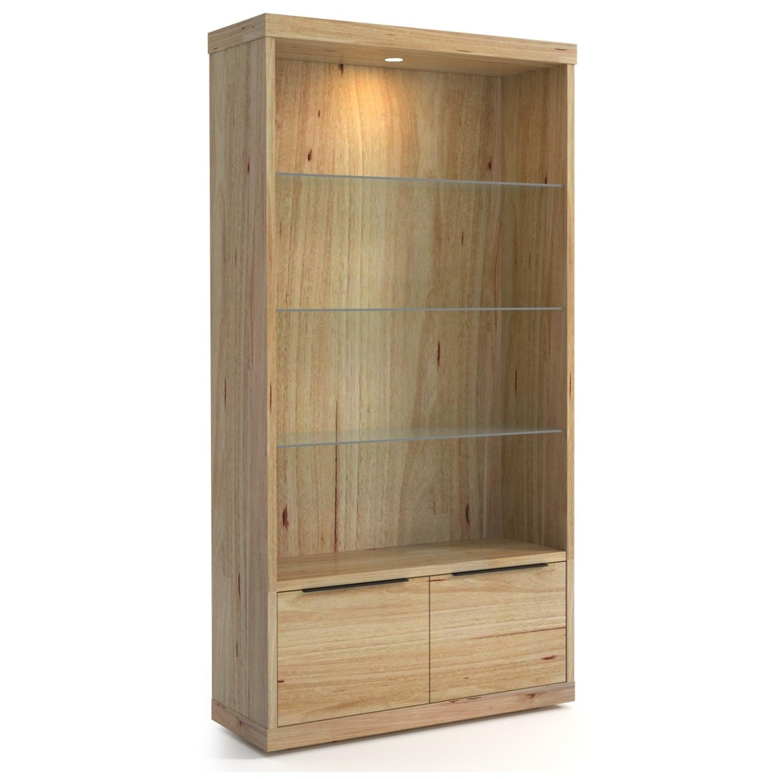 Nuoro Messmate Timber Display Cabinet, Double