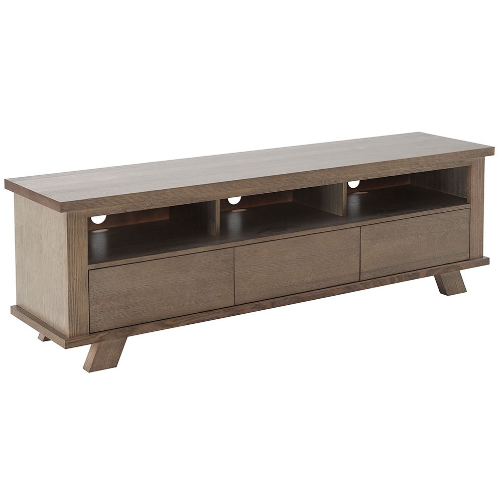 Everett Victoria Ash Timber 3 Drawer Lowline TV Unit, 180cm