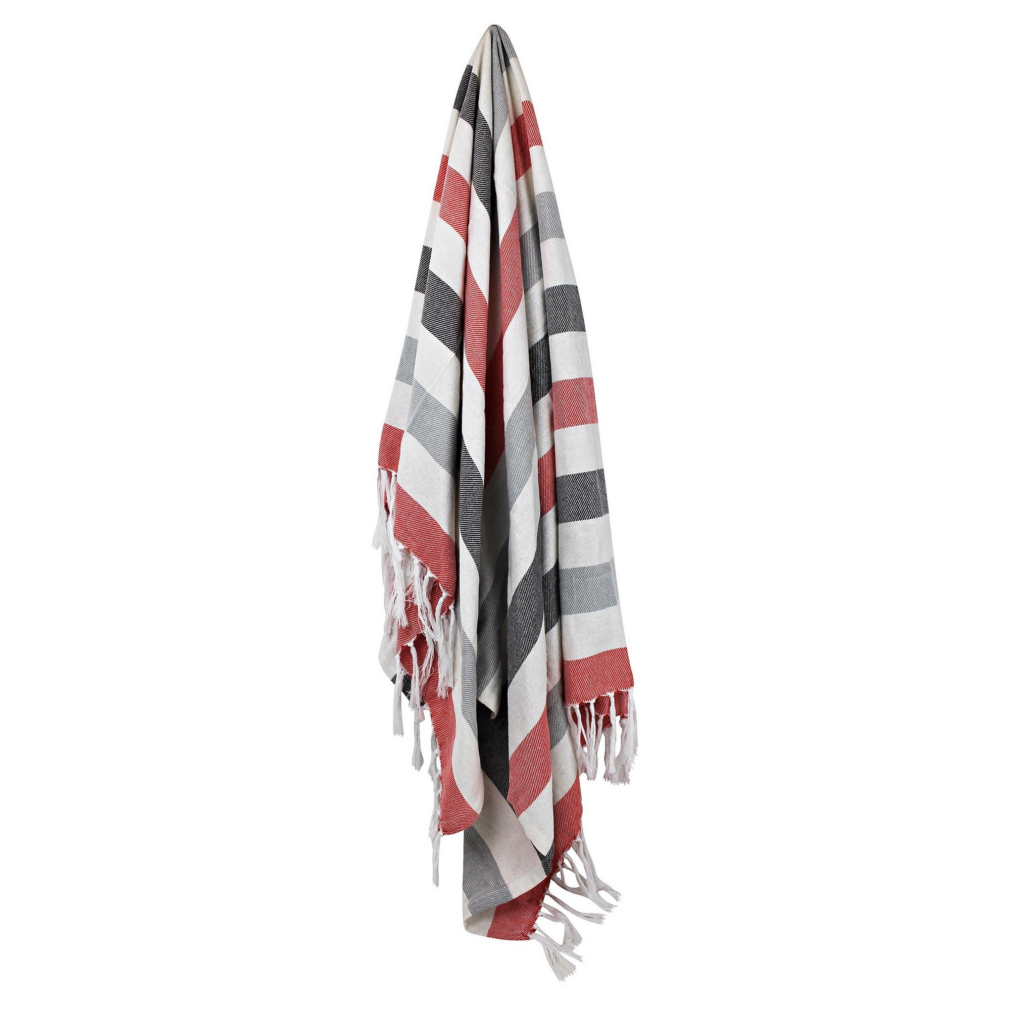 Odyssey Living Beach Cotton Throw, 125x150cm, Red
